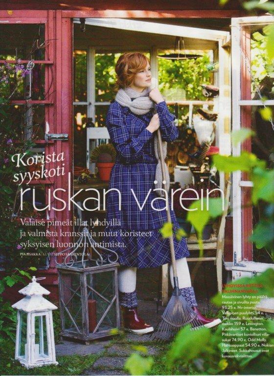 Kotiliesi magazine, Seppo Saarentola, style Pia Hollo